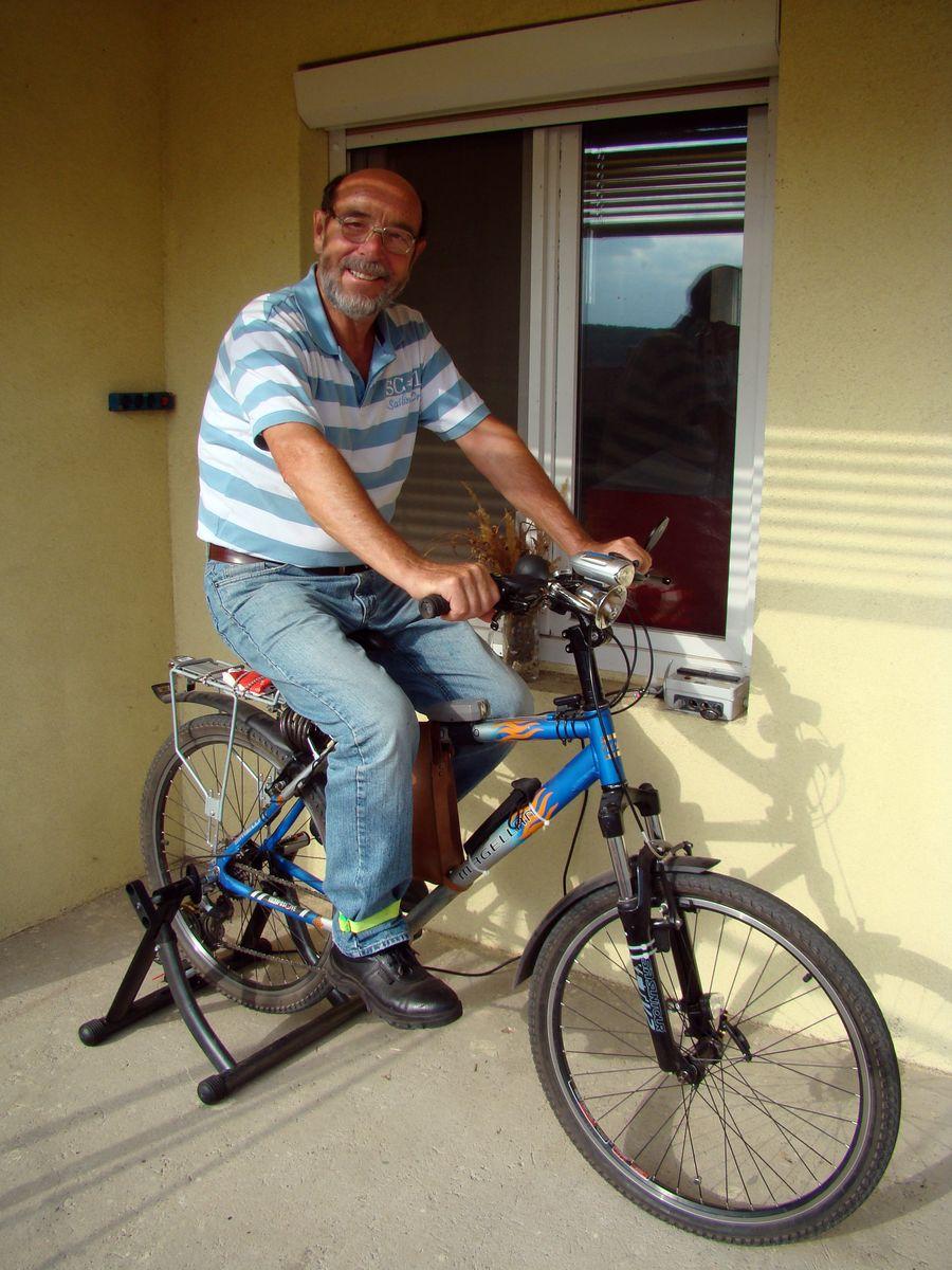 Kerékpáros áramtermelés.