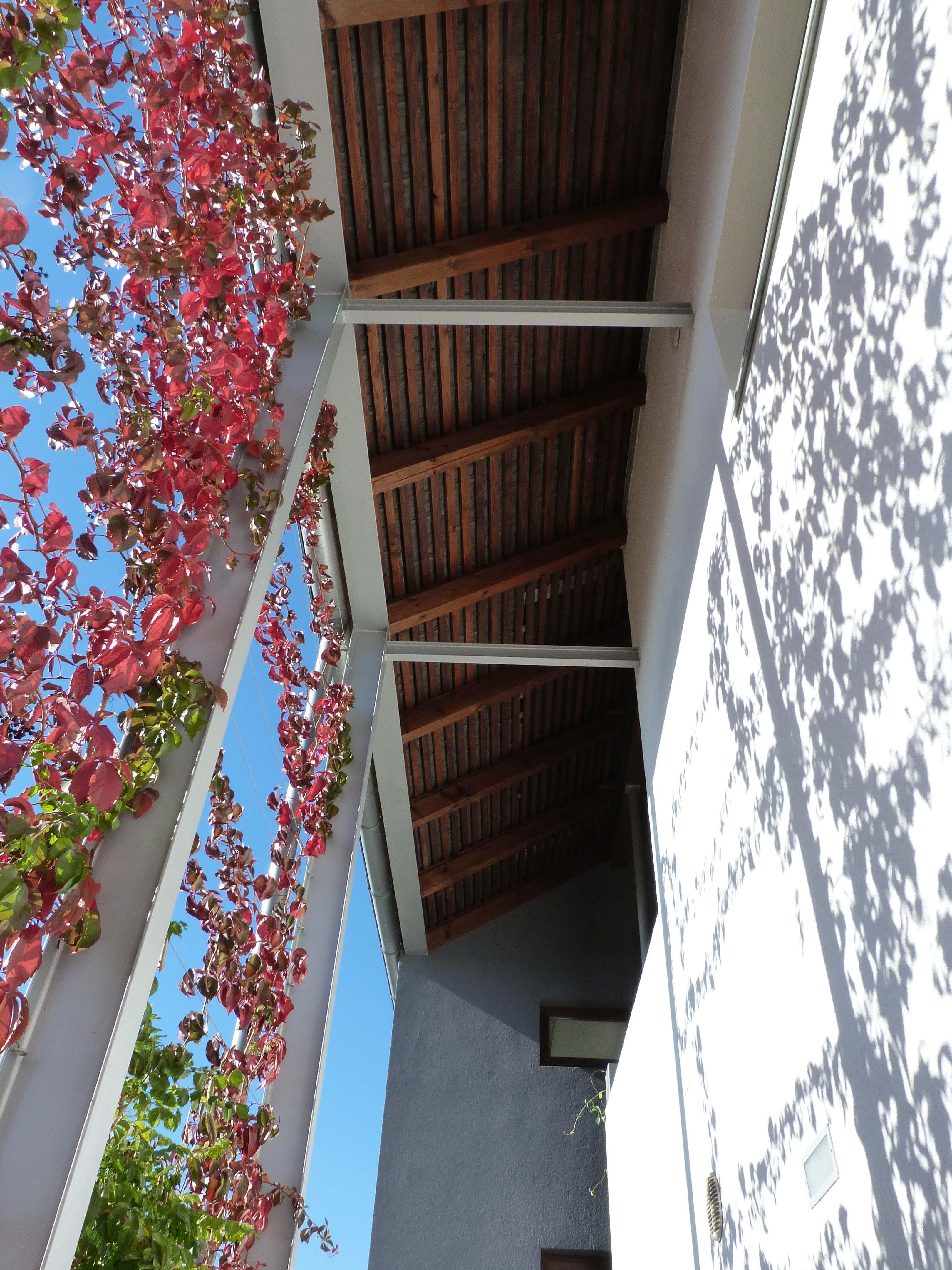 Az őszi veranda látványa.